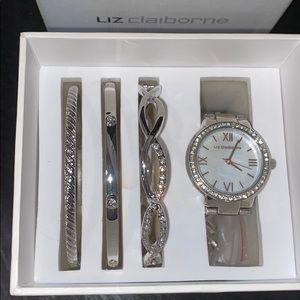 PRICE FIRM Liz Claiborne Watch and Bracelet Set